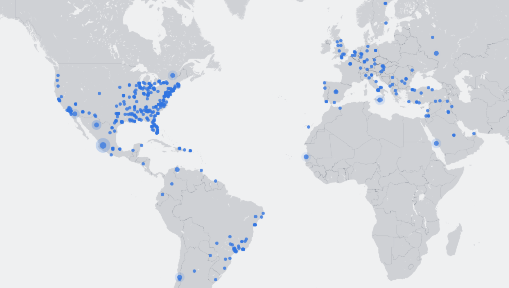 Facebook Livemap: user-generated TV visualizes globalization