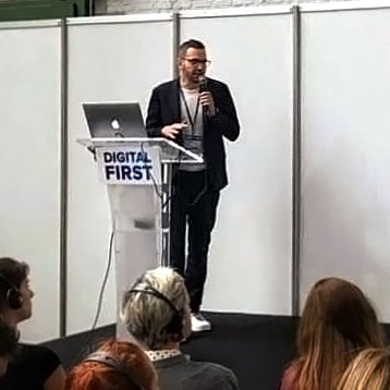 Paolo Margari presenting at Digital First Conference Brussels