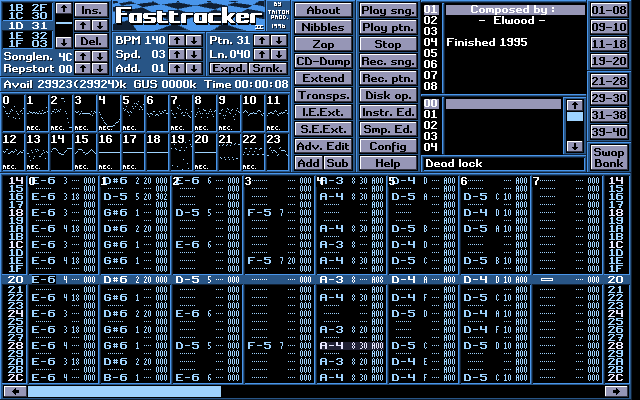 Fast Tracker 2 music software